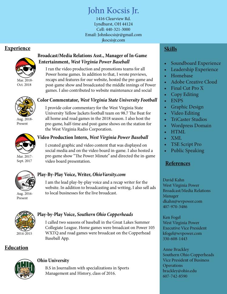 kocsis resume 10-18 update
